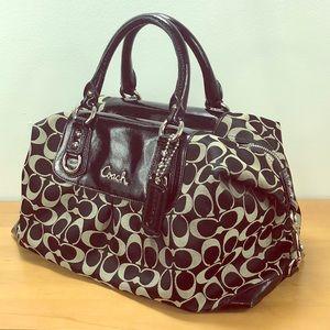 Coach 💙 Ashley Black Signature Carryall Tote Bag